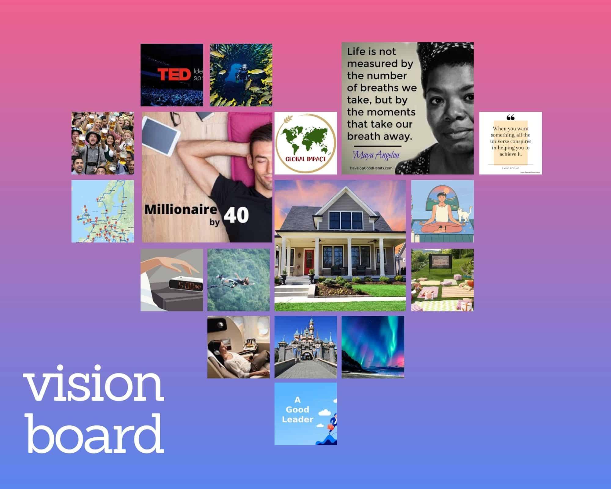 A vision board