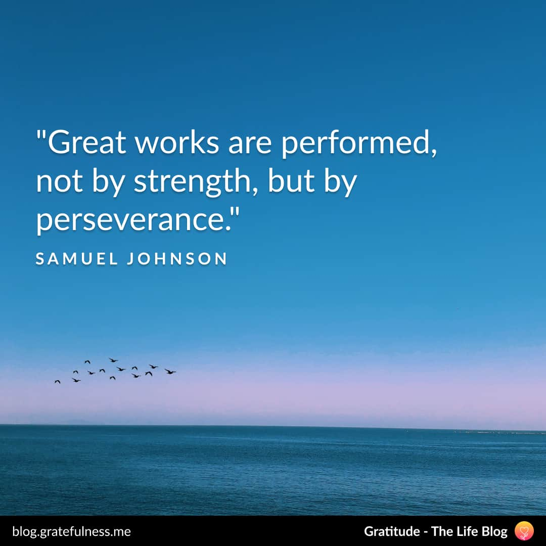 Growth mindset quote by Samuel Johnson