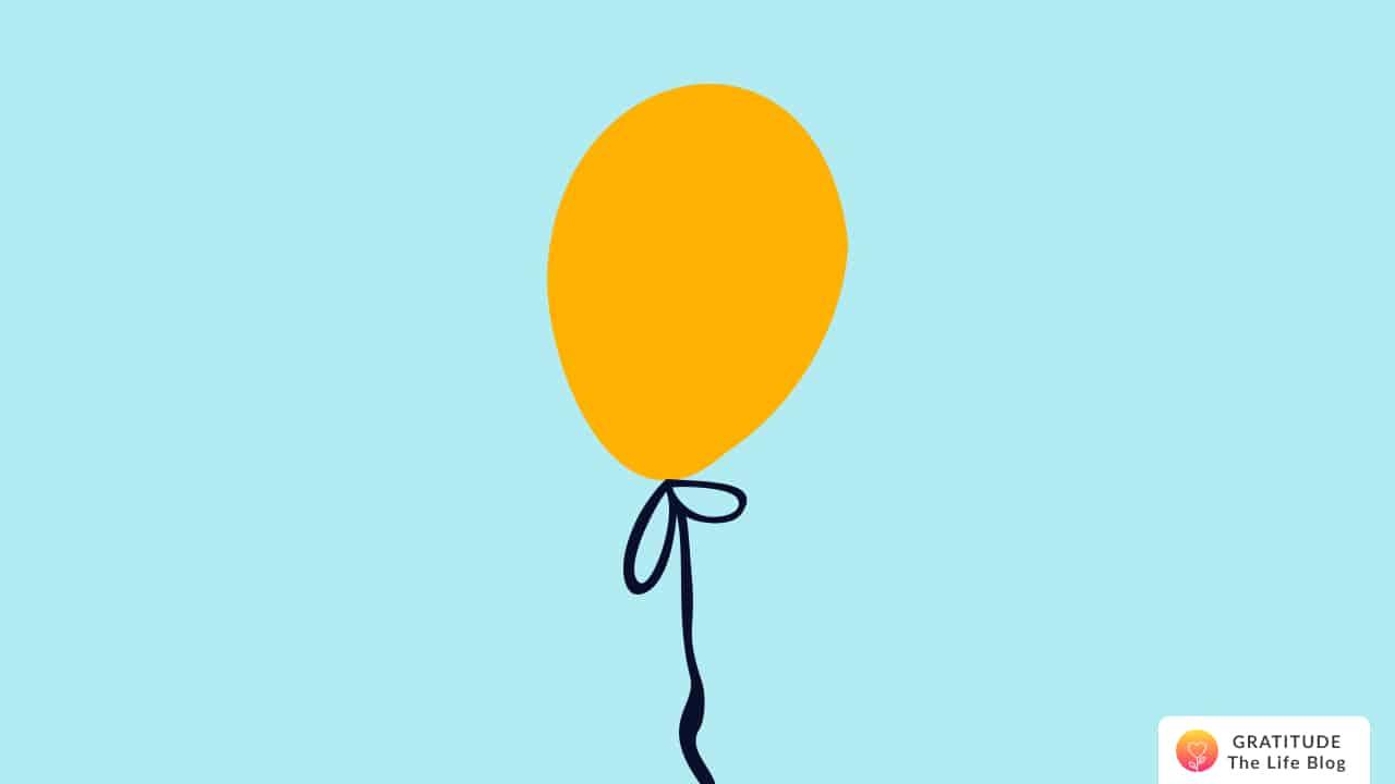 Illustration of a yellow balloon