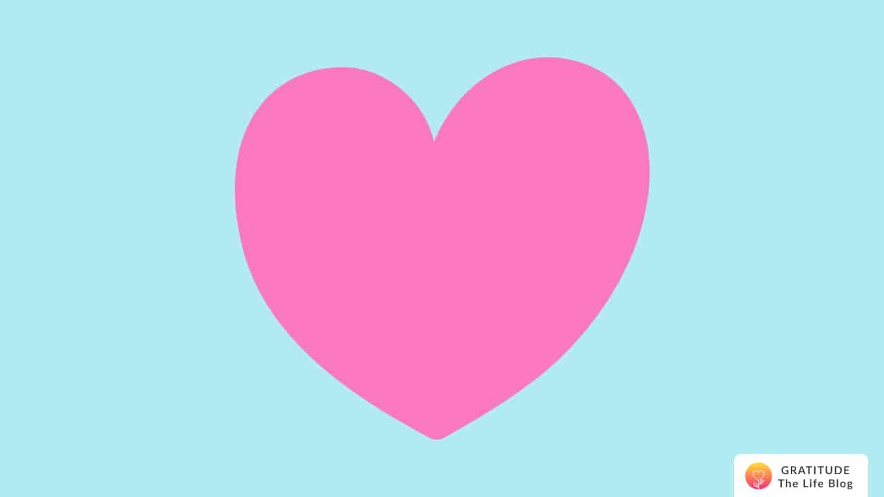 Illustration of a big pink heart