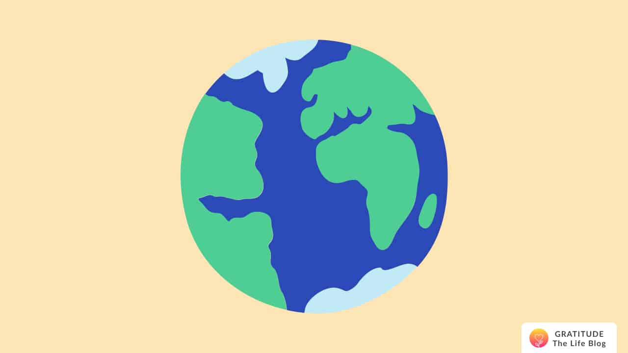 An illustration of the earth