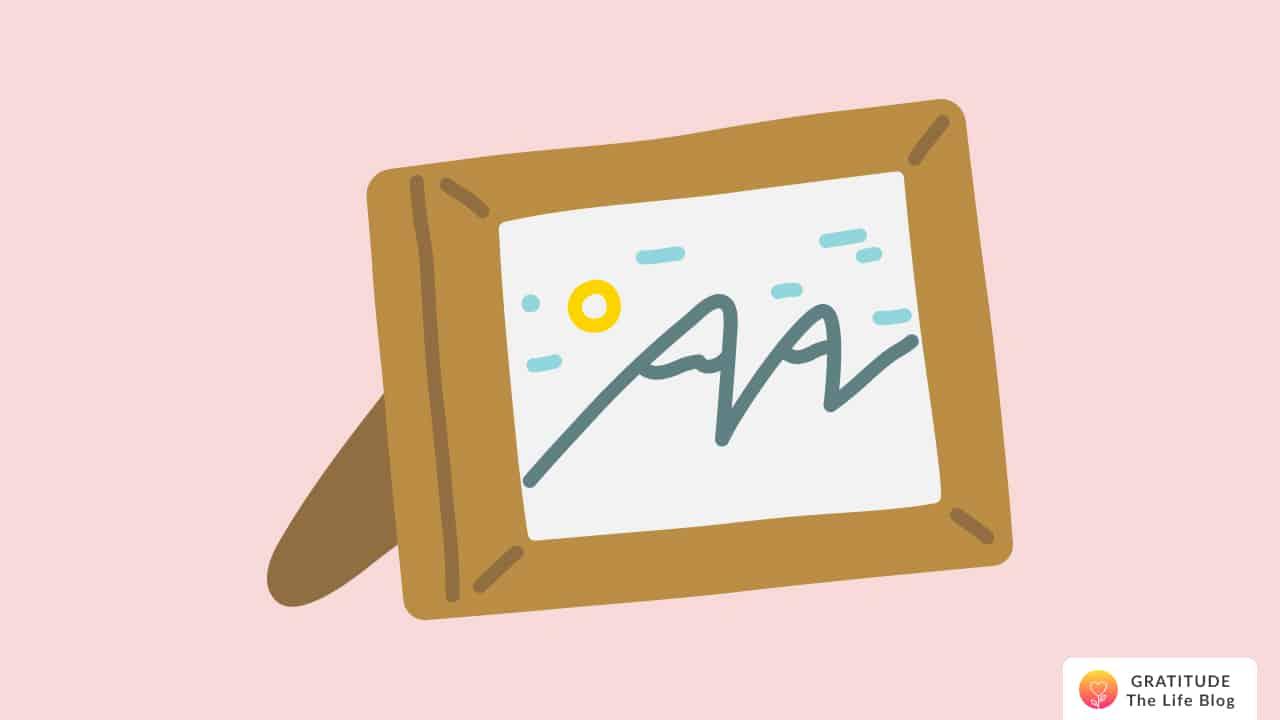 Illustration of a photo frame
