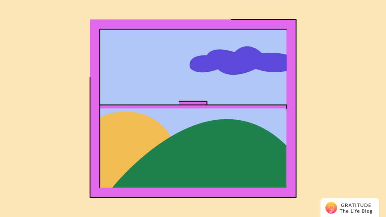 A window showing the scenery outside
