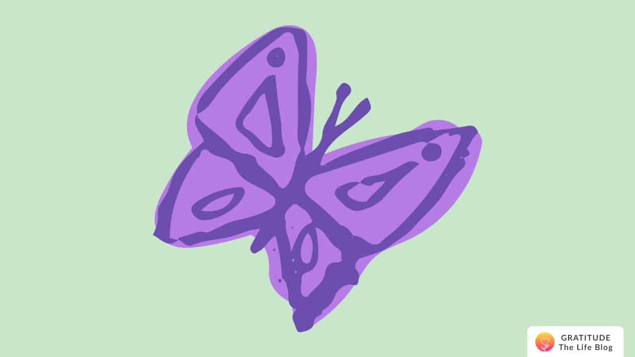 Illustration of a flying butterfly