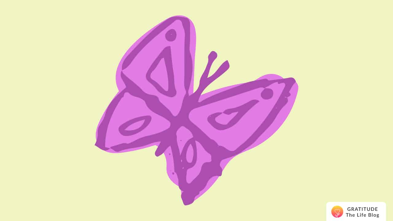This is an illustration of a pink butterfly