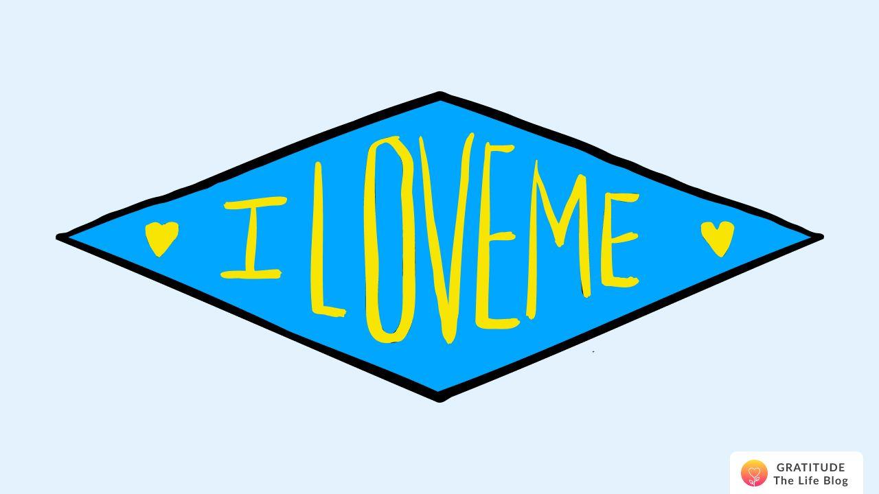 """Illustration of an """"I LOVE ME"""" legend"""