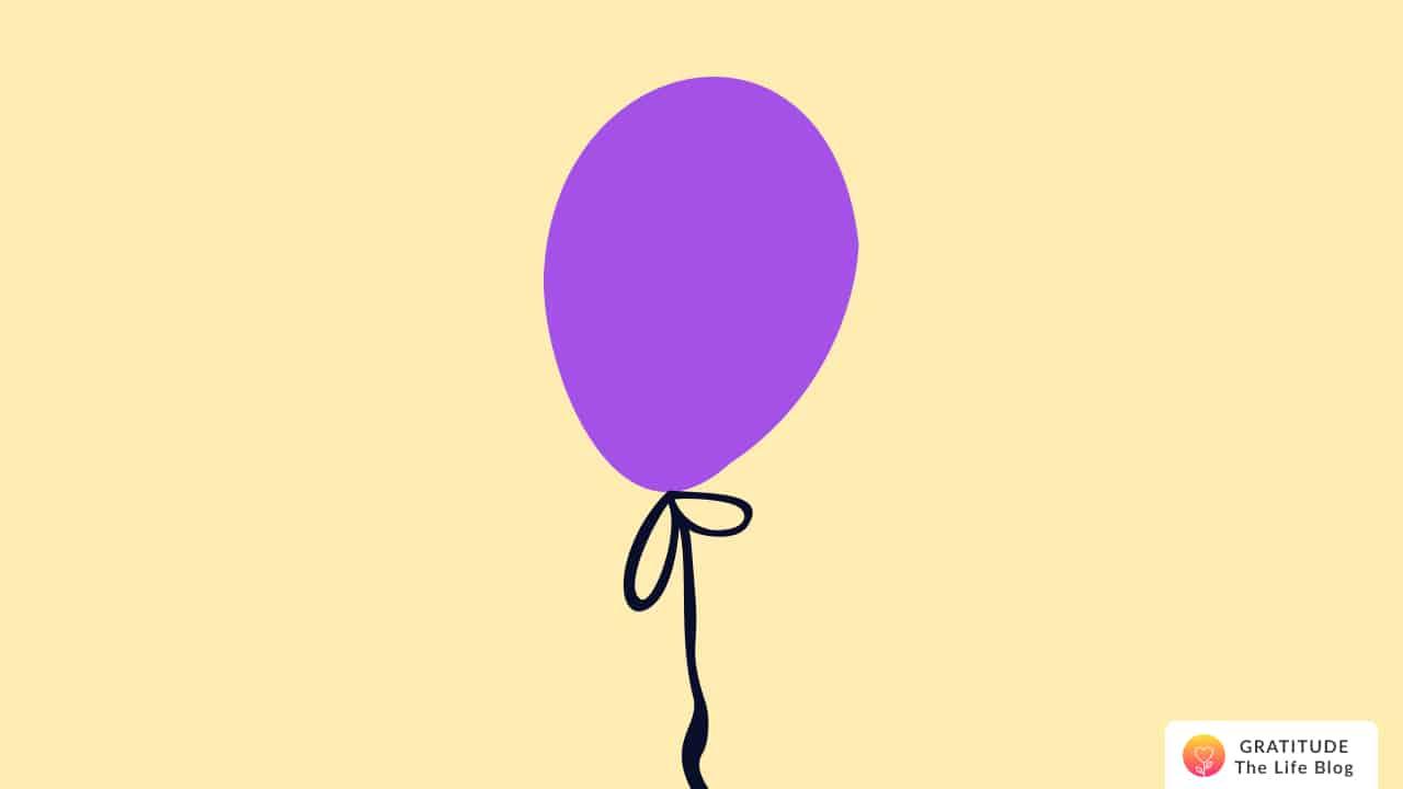 Illustration of a purple balloon