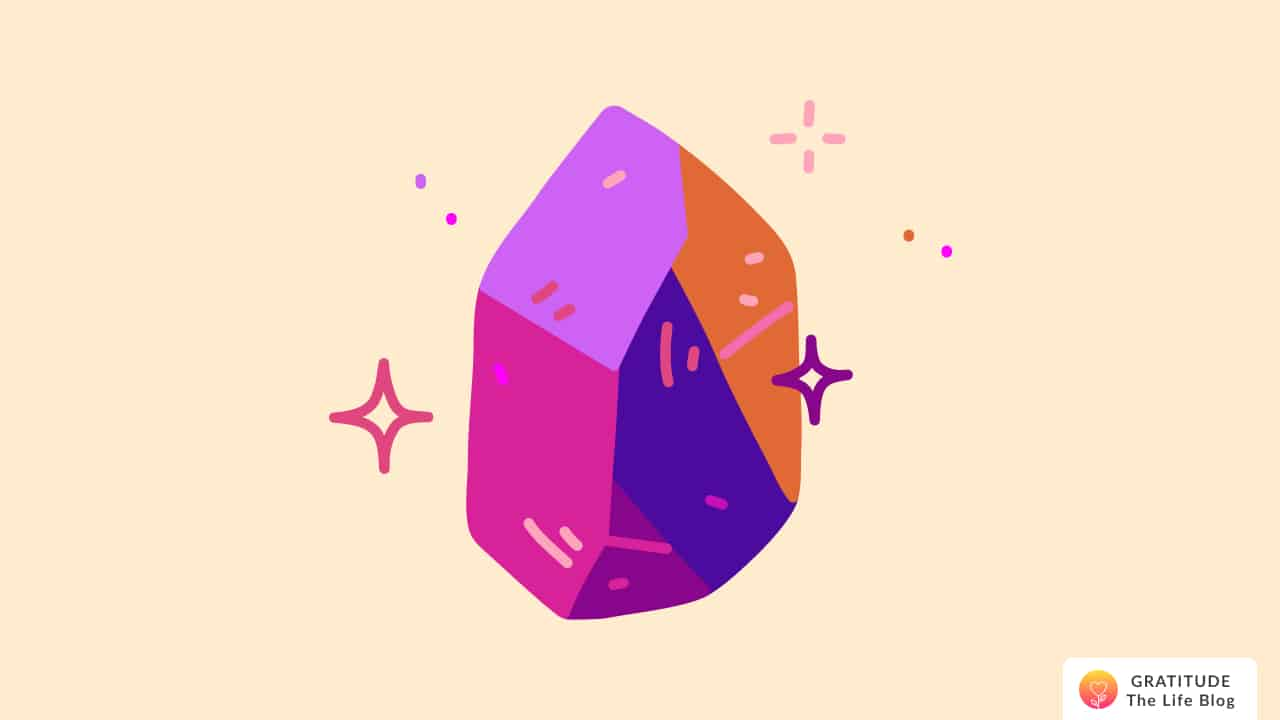 A glittering magical stone