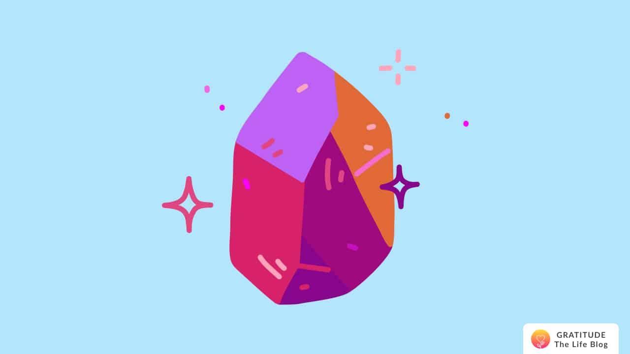 A colourful sparkling magic stone