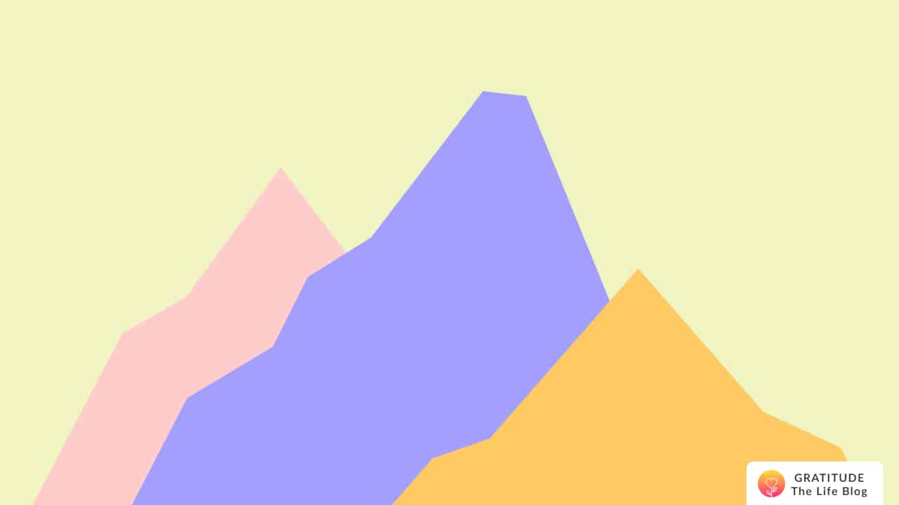 Illustration of colourful mountains