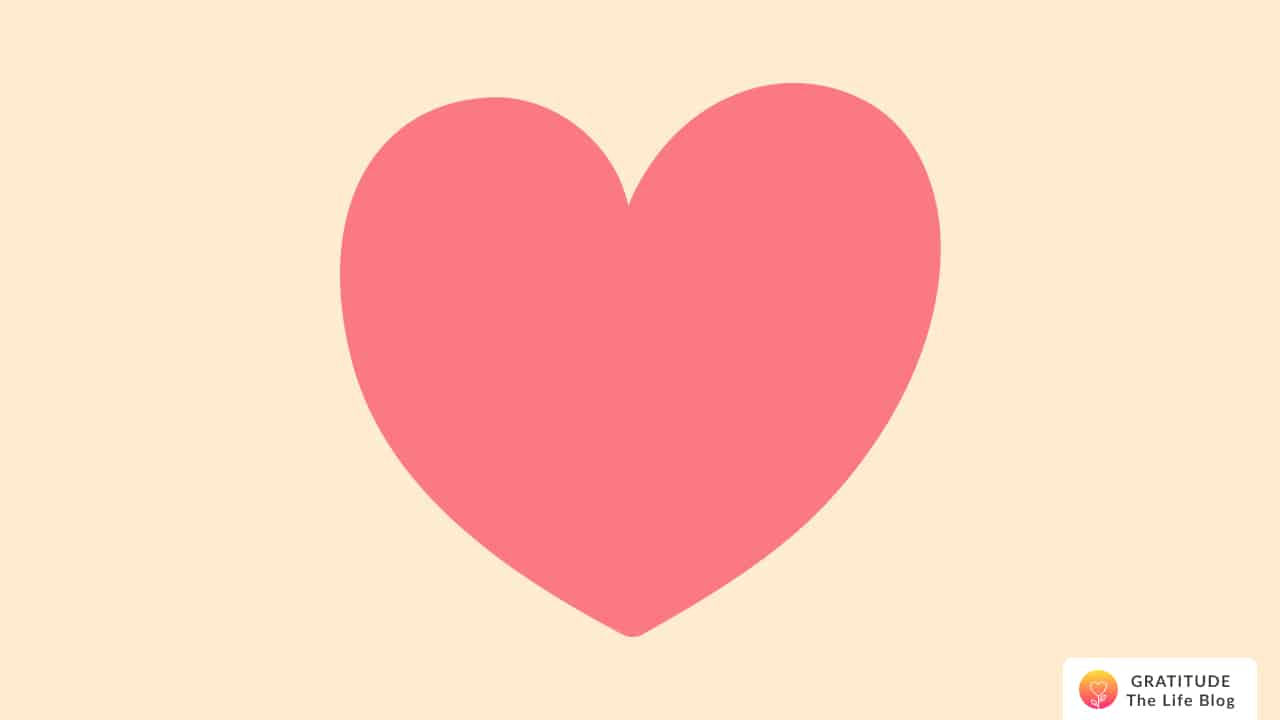 Illustration of a salmon pink heart