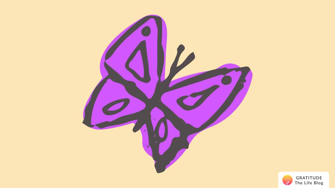 Illustration of a big purple butterfly