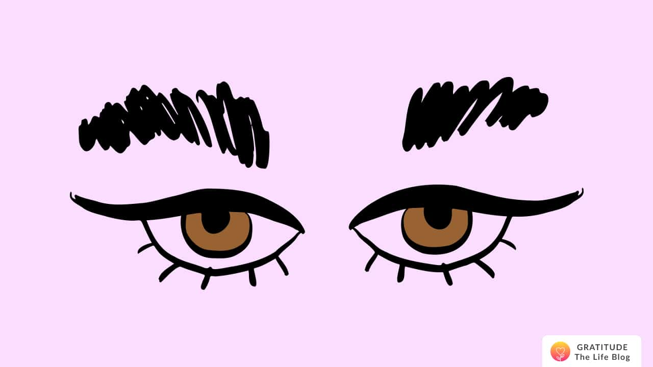 Illustration of brown human eyes