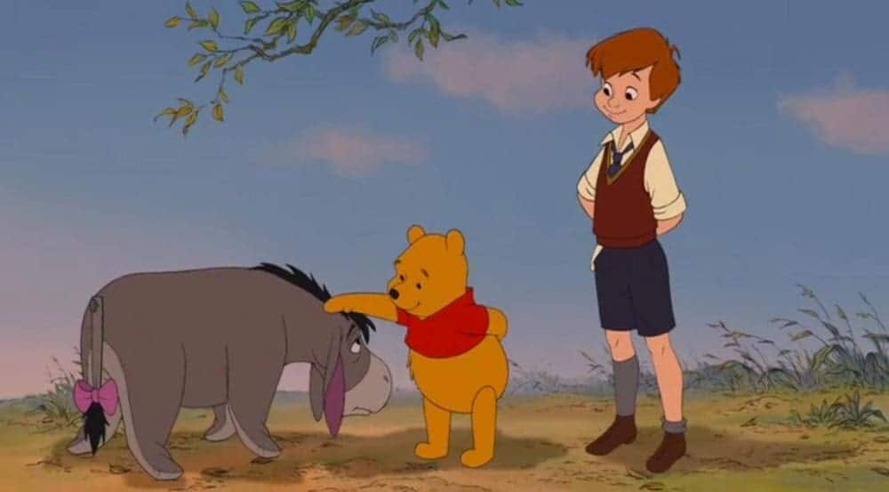 Winnie the pooh with his friends
