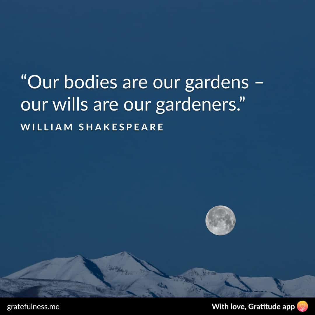 Image of a wellness quote by William Shakespeare