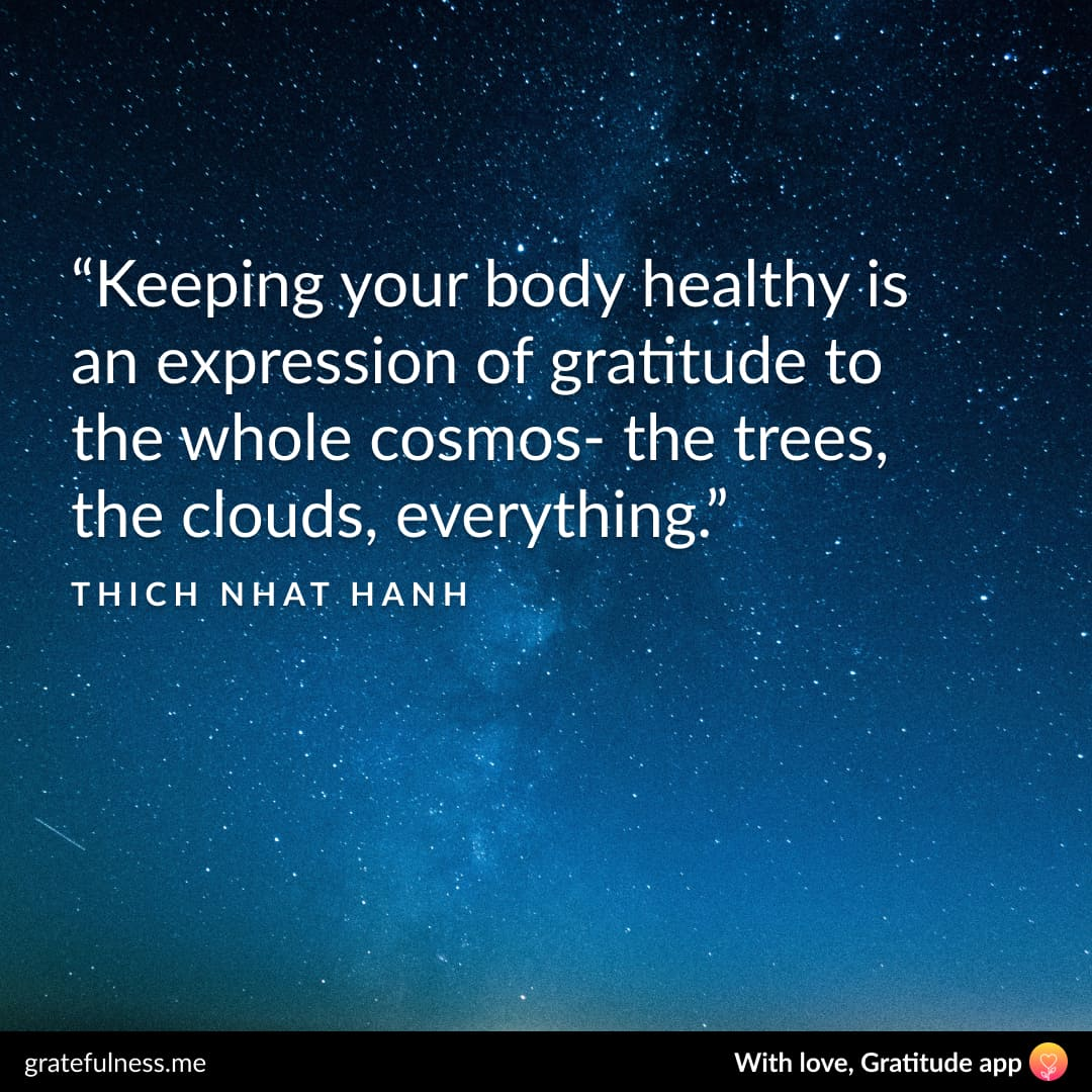 Image of a wellness quote by Thich Nhat Hanh