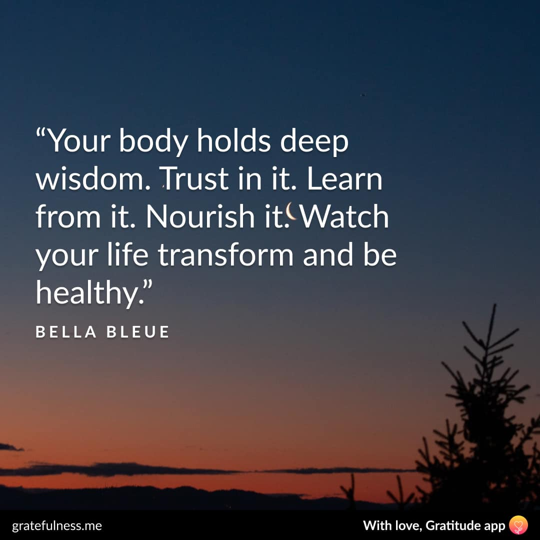 Image of a wellness quote by Bella Bleue