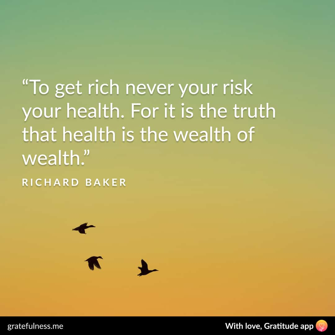 Image of a wellness quote by Richard Baker