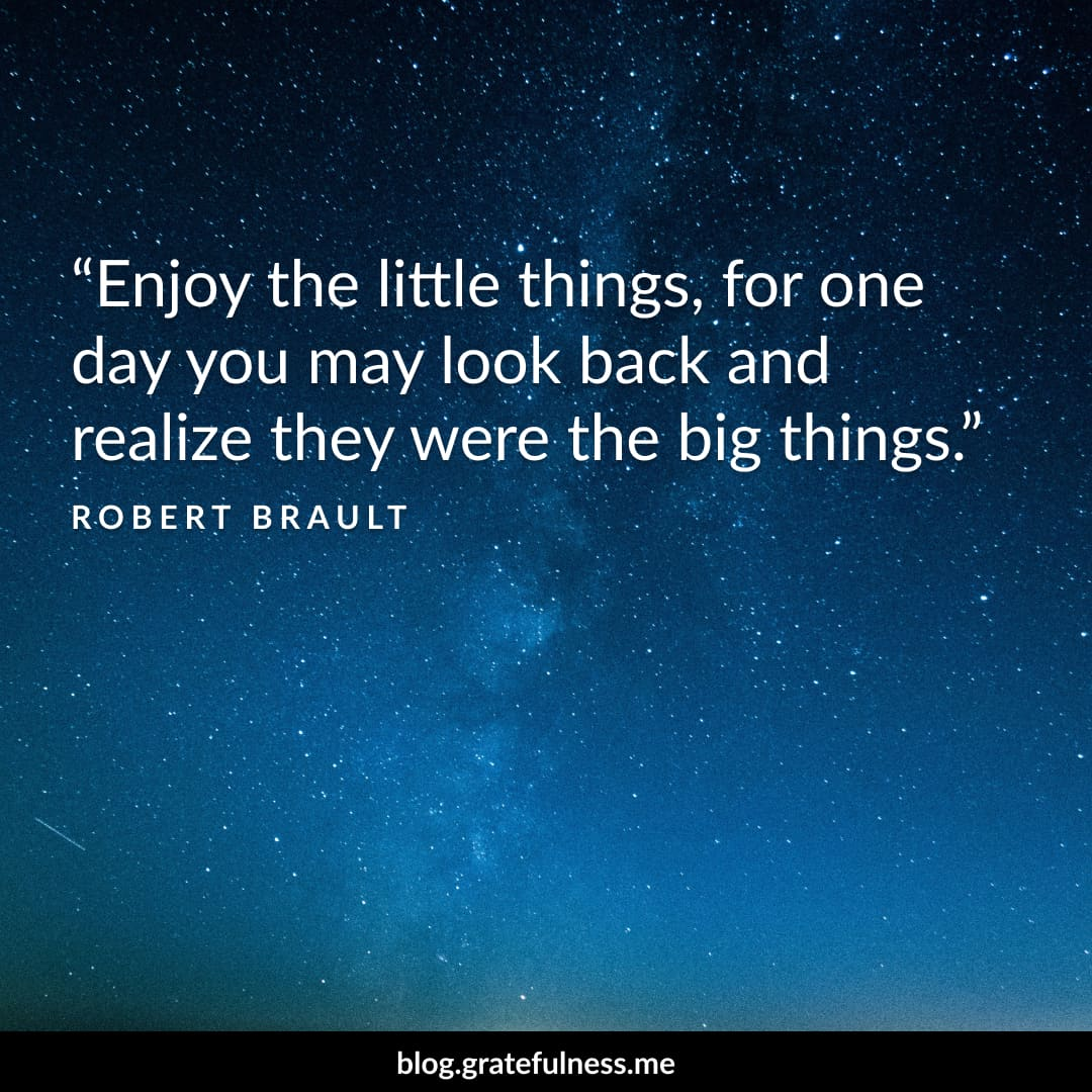 Image of a gratitude quote by Robert Brault