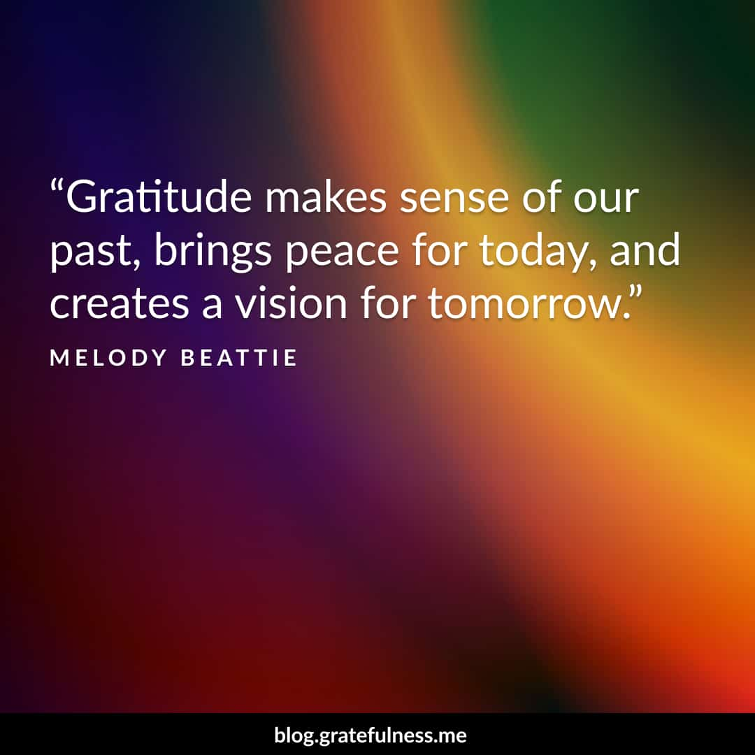 Image of a gratitude quote by Melody Beattie