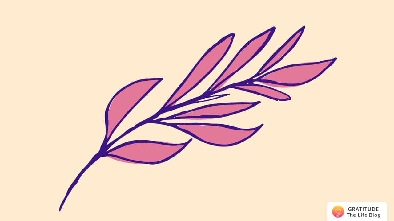 Illustration of pink leaves