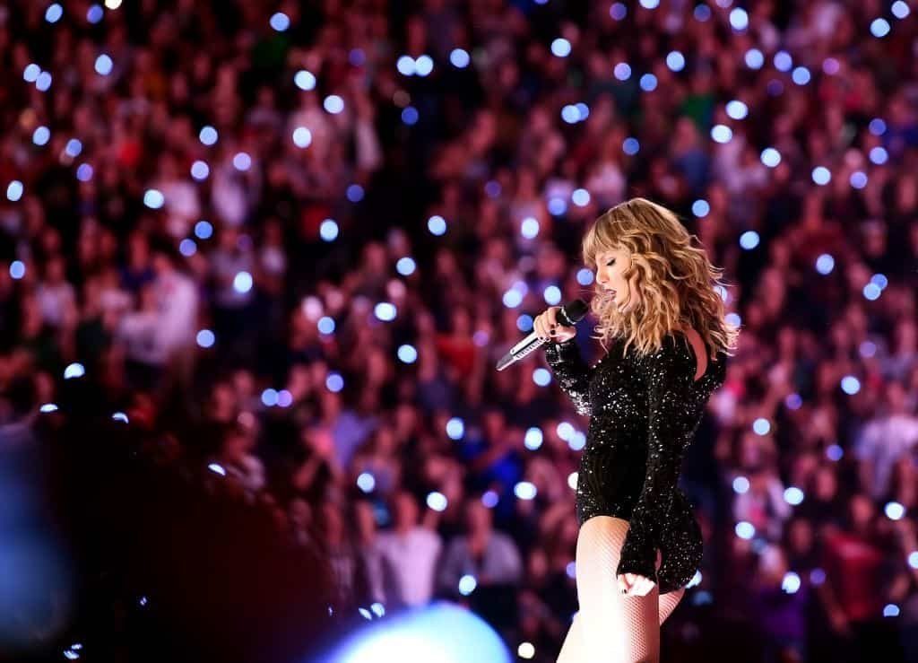 Photo of Taylor Swift performing live