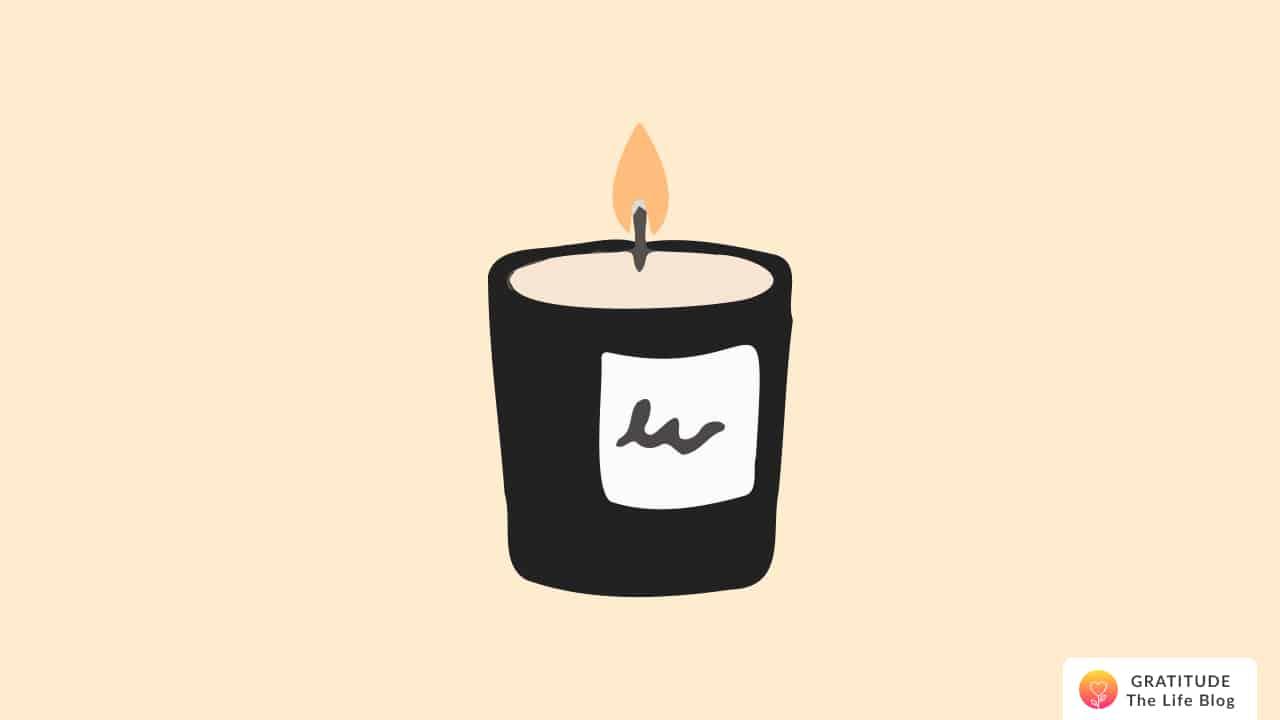 Illustration of a burning candle