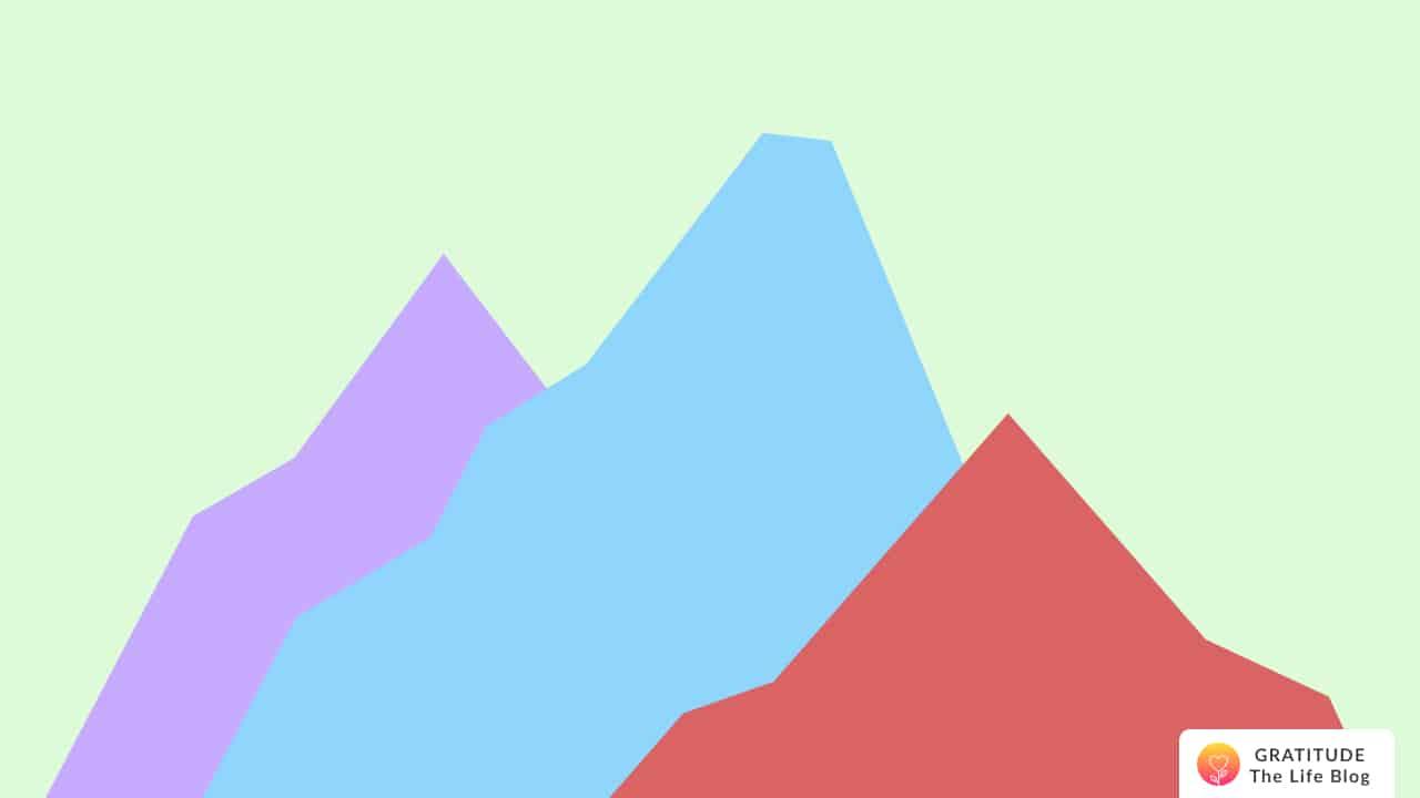 Illustration of 3 mountains