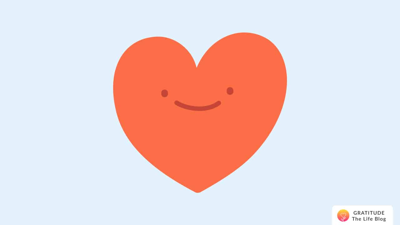 Illustration of a heart with a smile